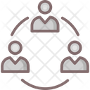 Team Hierarchy Business Data Icon