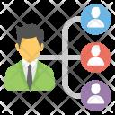 Delegating Tasks Team Icon