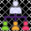 Team Leader Organization Hierarchy Icon