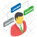 Team Leader Businessman Corporate Manager Icon