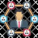 Team Leader Team Builder Connection Icon
