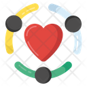 Team Love Employees Love Teamwork Icon