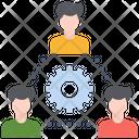 Business Teamwork Process Icon