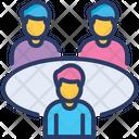 Team Meeting Group Teamwork Icon