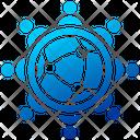 Team Meeting Finance Global Icon