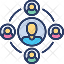 Team Network Connection Group Icon