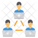 Networking Work From Home Communication Icon