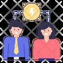 Team Power Team Strength Workforce Icon
