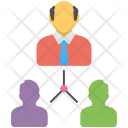 Team Hierarchy Structure Icon