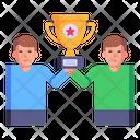 Achievement Team Victory Success Icon