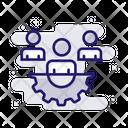 Team Work Collaboration Online Icon