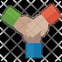Teamwork Partnership Team Project Icon