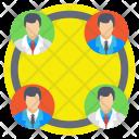 Team Collaboration Management Icon