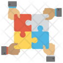 Working Together Teamwork Icon
