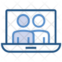 Laptop Online Business Notebook Icon