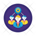 Teamwork Manage Team Manage Groupbusiness Person Icon
