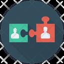 Teamwork Solution Jigsaw Icon