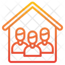 Teamwork Working At Home Network Icon