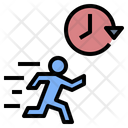 Time Management Active Hurry Icon