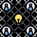 Teamwork Brainstorming Idea Exchange Icon