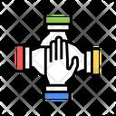 Teamwork Handshake Color Icon