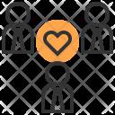 Teamwork Heart People Icon