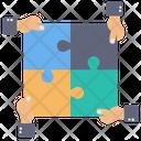 Teamwork Puzzle Jigsaw Icon