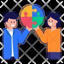 Problem Solving Teamwork Working Together Icon