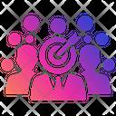 Teamwork Aim Expert Team Professional Occupation Icon