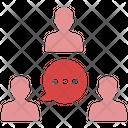 Teamwork Communication Teamwork Connection Icon
