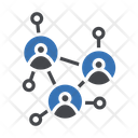 Teamwork Connected Employees Icon