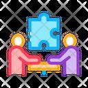 Teamwork People Meeting Icon