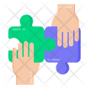 Problem Solving Teamwork Solution Teamwork Puzzle Icon