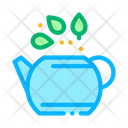 Teapot Tea Leaves Icon