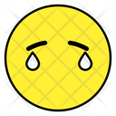 Tearing Emoji Tear Face Emoticon Icon
