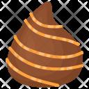 Teardrop Shape Chocolate Icon