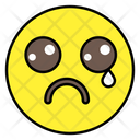 Tearing Emoji Emotion Emoticon Icon