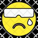 Tearing Emoji Emoticon Smiley Icon