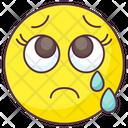 Teary Eyes Emoji Crying Expression Emotag Icon