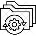 Tech Folder Cogwheel Icon