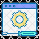 Tech Service Gear Screwdriver Icon