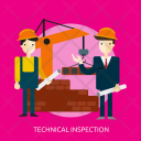 Technical Inspection Building Icon