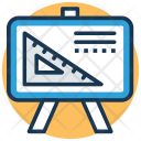 Whiteboard Technical Drawing Icon