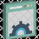 Browser Screen Gear Seo Icon