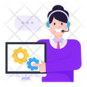 Customer Services System Settings Call Agent Icon