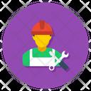 Mechanic Engineer Technician Icon