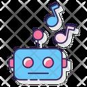 Techno Robot Music Icon