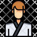Tecondo Taekwondo Karate Man Icon