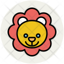 Teddy Bear Face Icon