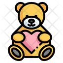 Teddy Bear Love Kid And Baby Icon